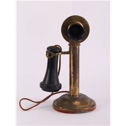 Western Electric brass candle stick telephone. Last