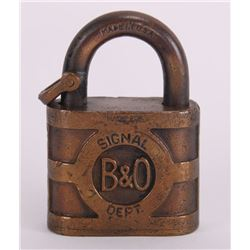 Antique B&O Rail Road Lock (Size: See second photo for