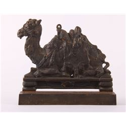 Antique cast iron Camel door stop.  (Size: See second