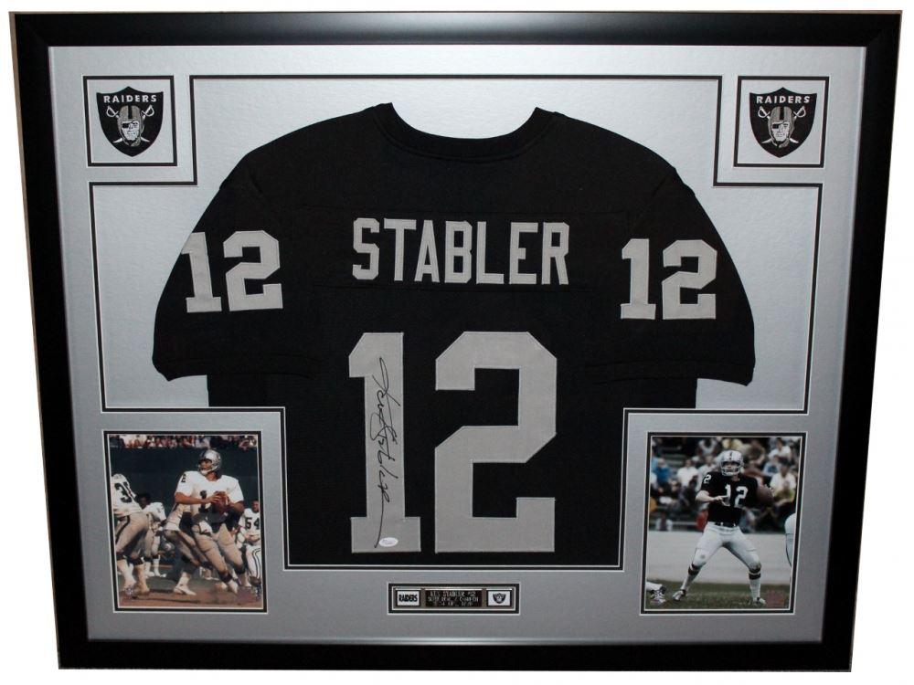 the best attitude 6c072 a584e Ken Stabler Signed Raiders 35