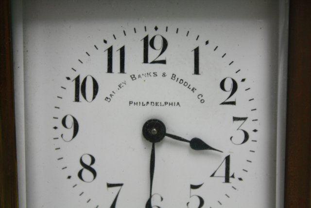 Bailey Banks Biddle Co Carriage Clock