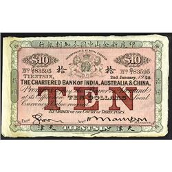 "Chartered Bank of India, Australia & China 1928 ""Tientsin"" Branch Issue, The Second of Two Sequentia"