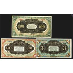 "Russo-Asiatic Bank, ND 1917 ""Harbin"" Issue Banknote Trio."