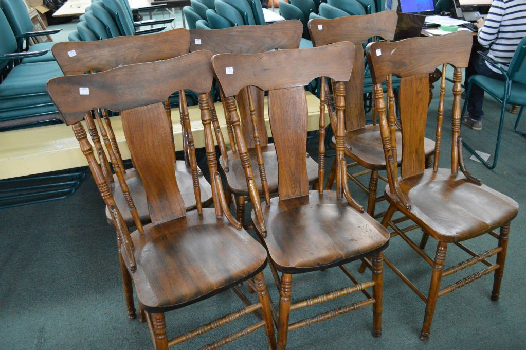 Excellent A Set Of Six Antique Canadiana T Back Dining Chairs Cjindustries Chair Design For Home Cjindustriesco