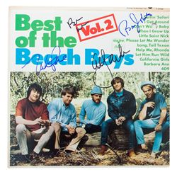 Best of the Beach Boys LP Record Signed by all 4 Band Members