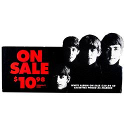 "The Beatles ""White"" Album On Sale Promotional Signage"