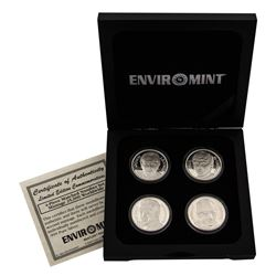The Beatles Set of 4 Commemorative Silver Medallions