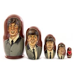 The Beatles Hand-Painted Matryoshka Dolls