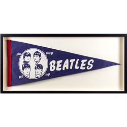 Vintage Beatles Pennant Flag