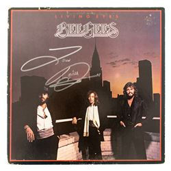 "Barry Gibb Signed Bee Gees ""Living Eyes"" LP Album"