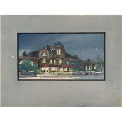 "The Blues Brothers Concept Set Watercolor Painting ""Palace Hotel"" by Ron Croci"