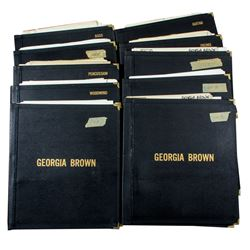 Collection of Georgia Brown Original Music Sheets & Songs from Her One Woman Show