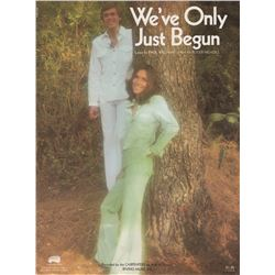 """The Carpenter's """"We've Only Just Begun"""" Sheet Music"""