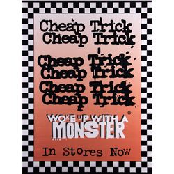 """Cheap Trick """"Woke Up With a Monster"""" 1994 Promotional Poster"""