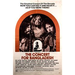 Original 1972 The Concert for Bangladesh Poster