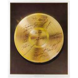 Legendary Stars of Country Music Vintage Signed Lithograph