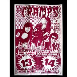 "Cramps & Flat Duo Jets ""Stay Sick Tour"" 1990 Playbill"