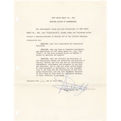Sammy Davis, Jr. Signed Shareholder Document