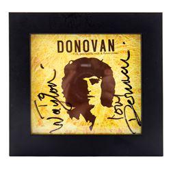 Donovan Autographed Rare Promotional Album Framed