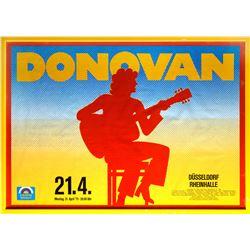 Donovan Vintage 1975 Germany Concert Poster