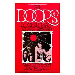 The Doors Vintage 1969 Concert Poster (BG 186 - 2nd Printing)