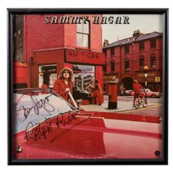 "Sammy Hagar Autographed ""Red"" Album Framed"