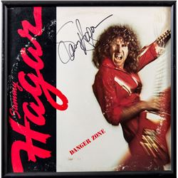 "Sammy Hagar Autographed ""Danger Zone"" Album Framed"