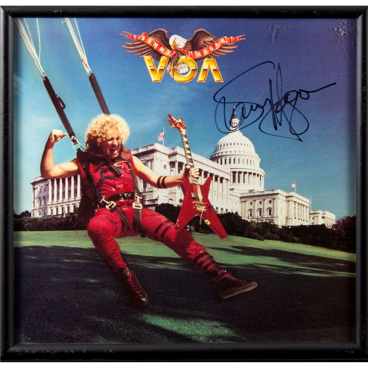 Sammy Hagar Autographed Voa Album Framed