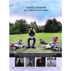 "George Harrison ""All Things Must Pass"" promotional poster"