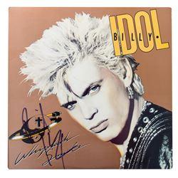 "Billy Idol Signed ""Whiplash Smile"" LP Record Sleeve"