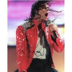 Michael Jackson Signed 8x10 Color Performance Photo