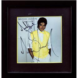 "Michael Jackson Autographed ""Thriller"" CD Single Framed"