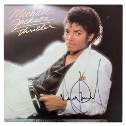 "Michael Jackson Signed ""Thriller"" LP Record Sleeve"