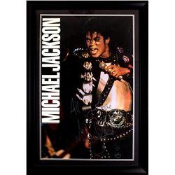 Michael Jackson Autographed Poster Framed
