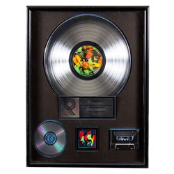 """Mick Jagger The Rolling Stones RIAA Platinum Record Award for """"Dirty Work"""""""