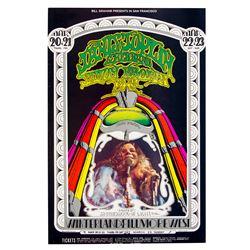 Janis Joplin Vintage1969 Concert Poster (BG 162 - 2nd Printing)