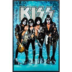 Gene Simmons & Paul Stanley Signed KISS Poster Framed