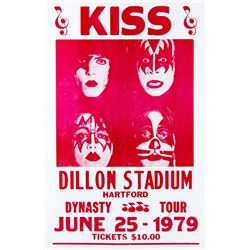 "KISS Dillon Stadium ""Dynasty Tour"" Show Bill"