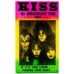 "KISS ""10th Anniversary Tour"" Show Bill"