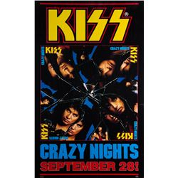 """KISS """"Crazy Nights"""" promotional poster"""