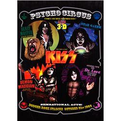 KISS Psycho Circus Dodger Rock Stadium Promotional Poster