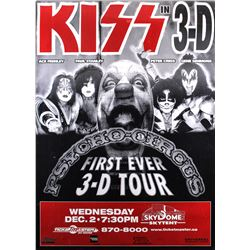 KISS in 3-D Tour Promotional Poster