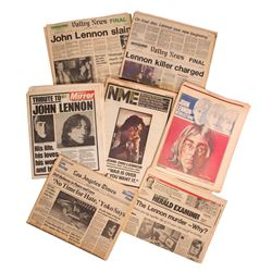 Newsprints of the Day John Lennon was Killed