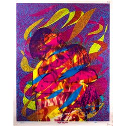 Rare Original Psychedelic Poster for Light My Fire by Funky Features