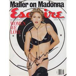 Madonna Signed Esquire Magazine August 1994