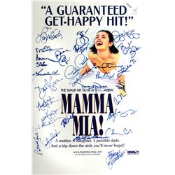 Mamma Mia! Broadway Window Card Signed by Entire Cast