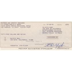 Ray Manzarek of The Doors Signed Check