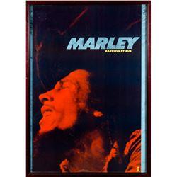 """Bob Marley """"Babylon By Bus"""" Original 1978 Promotional Poster Framed"""