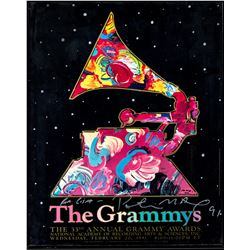 Peter Max Signed 33rd Annual Grammys Poster Framed