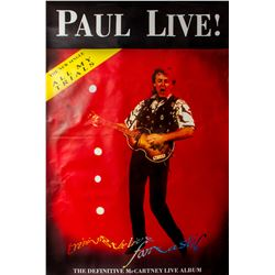 "Paul McCartney ""Tripping The Live Fantastic"" Album Promotional Poster"